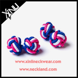 Handcrafted Wedding Silk Knot Cufflinks for Men