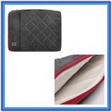 soft fur lining shockproof laptop sleeve