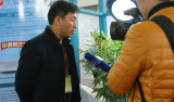 2016 Yangzhou renewable energy show. Yangzhou TV interview on our manager and captured our waterproo