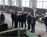 The European visiting group came to ECOHYDRAULIC to buy cutting metal baler