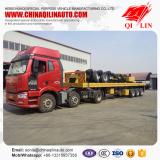 3 axles flatbed semi trailer truck trailer for Tanzania market