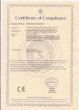CERTIFICATE OF COMPLIANCE-CE CERTIFICATE