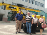 South African clients visited hanfa group for HF140Y DTH drill rig