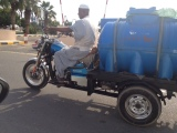 Tricycle serving in africa for water supply