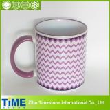 Wave Design Ceramic Blank Coffee Mug for Promotion