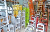 different kinds of ladders in our showroom