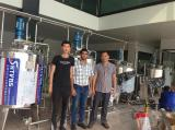 Installation and testing in our factory for milk production line