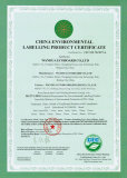 CHINA GOVERNMENT GREEN LABELLING PRODUCT CERTIFICATE