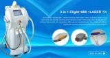 3 in 1 Elight+808nm diode laser+ND yag laser machine