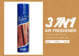 Sandalwood fragrance air freshener new packaging design