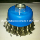 2.5inch blue colour OSBORN knot cup brush for hot sales