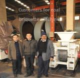 Coal briquette making maker machine