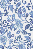 Art Mosaic Pattern-Summer Flowers Blue