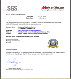SGS Certificate 2013 - 2014