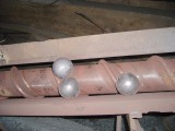 75MNCR forged grinding ball dia100mm