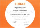 TIMKEN Certificate