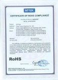 Certificate of ROHS COMPLIANCE