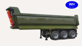 Tri-Axle U Shape Dump Truck Trailer, Tipper Trailer