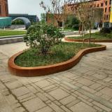 Corten steel tree pool