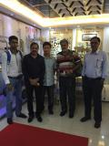Andy met Pakistan customer on mortuary room items