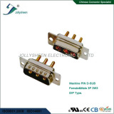 Machine Pin D-SUB straight type 3P 3W3 male and female connector