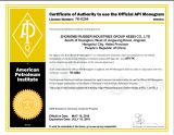 certificate OF api