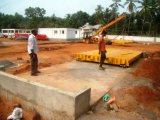 Engineer install 3x16m 60ton truck scale in India