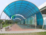 100% virgin material polycarbonate blue sheet with high light transmission