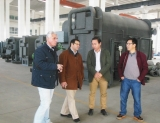 Customer from Switzerland visited Lucy new energy company