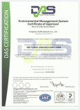 Environmental management system certificate of approval