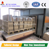 Clay brick tunnel kiln in automatic clay brick manufacturing plant