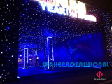 361 China annual running praty with led star curtain