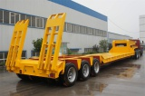 3 Lines 6 Axles Heavy Equipment Lowbed Trailer, Step Deck Trailer