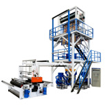 70 75 Single Screw Double Winder Film Blowing Machine With EPC Web Aligner