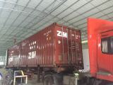 container on the way to customers
