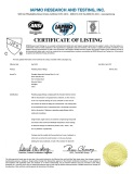 CUPC Certifcate for Faucet