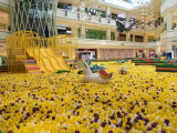 Huge ball pit for shopping mall