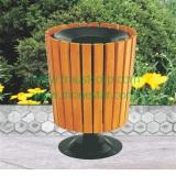 wooden dustbin