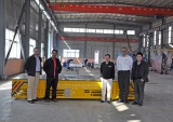 Malaysia client visited our plant for steerable transfer car
