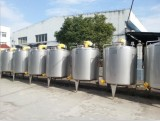 stainless steel double jacket tanks