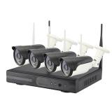 4chs WIFI 1.0Megapixels NVR KITS CCTV System