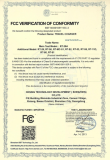 FCC Certificate of Travel Charger