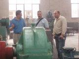 German customer visiting for coal briquette machine