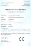 Certificate of Conformity for Punching Machine
