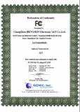 FCC Declaration of Conformity of DDT series