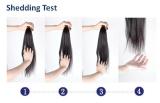 Shedding test for grade 8A virgin unprocesed virgin hair
