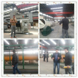 Customers visit for oil machine