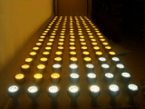 LED spotlight burn-in test room