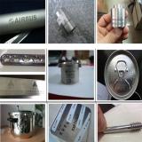 fiber laser marking machine on the metal samples