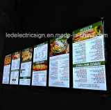 menu board for ceiling hanging slim led light box in American